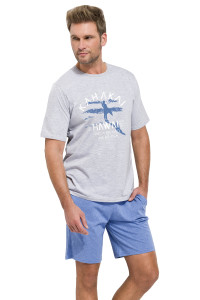 taro-karel-1072-panske-pyzamo-svetle-sede-modre